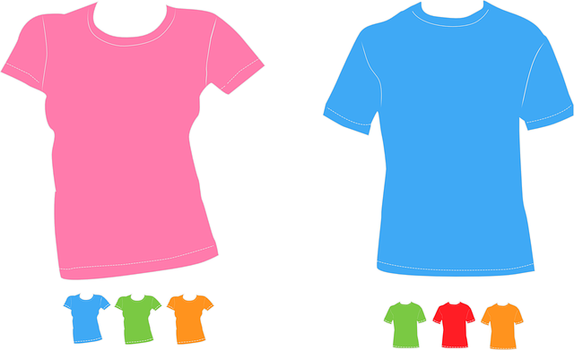 barevné triko