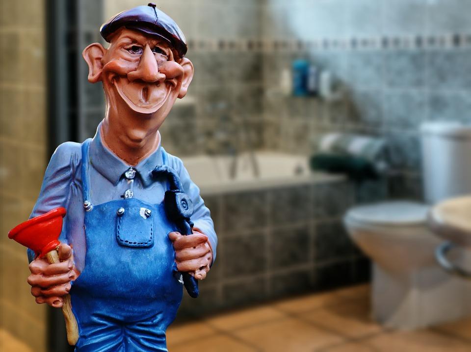 opravár, sprcha, toaleta